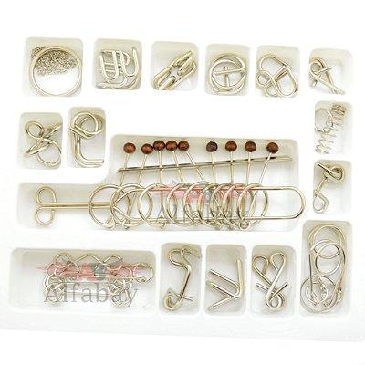 Kit Dezesseis Desafios Metal 3D Quebra Cabeça