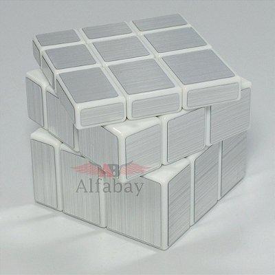 Shengshou Mirror Block 3x3x3 Prateado Fundo Branco