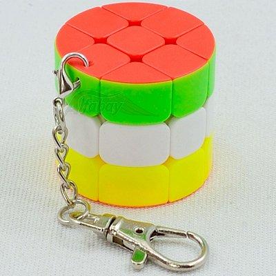 Chaveiro JieHui 3x3x3 Cilíndrico Redondo Stickerless