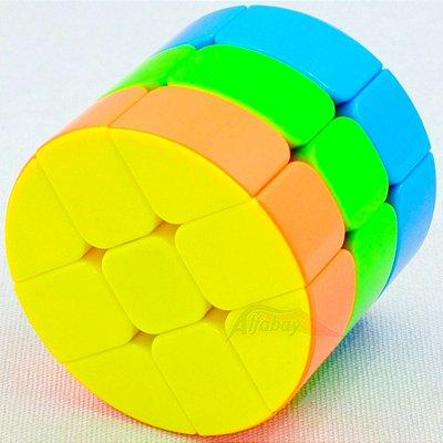 JieHui 3x3x3 Cilíndrico Redondo Stickerless