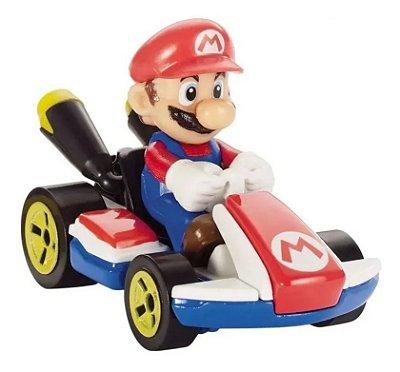Carrinho Hot Wheels - Mario Kart - Mario