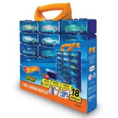 Hot Wheels Maleta Porta Carrinhos Modular Com 18 Módulos