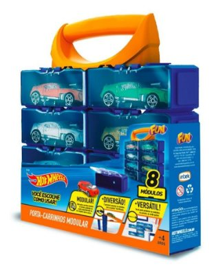Hot Wheels - Maleta Porta Carrinhos Modular Com 8 Módulos