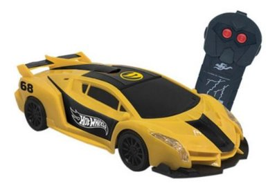 Carro RC Hot Wheels Speed Team Amarelo