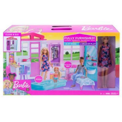 Casa Dos Sonhos Da Barbie Glam-  Com Boneca Barbie Mattel