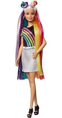 Barbie Boneca Penteado Cabelos Mágicos De Arco Iris Dreamtopia - Com Brilho