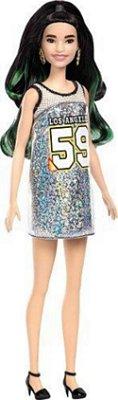 Boneca Barbie Fashionista 110 Oriental Vestido Los Angeles Cabelo colorido