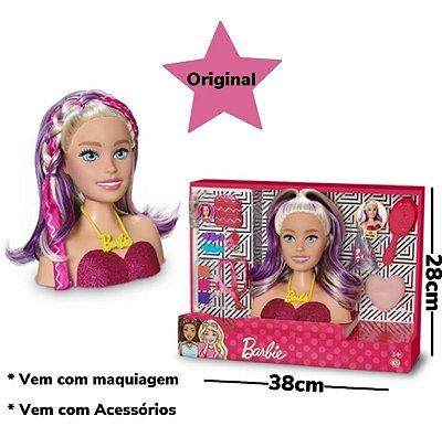 Busto Boneca Barbie Para Pentear E Maquiar Vem Com Maquiagem