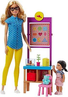 Barbie Boneca Professora E Aluna Na Escola + Acessórios