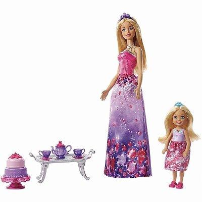 Barbie Dreamtopia + Mini Princesa Fantasia Na Hora Do Chá - Com Acessórios