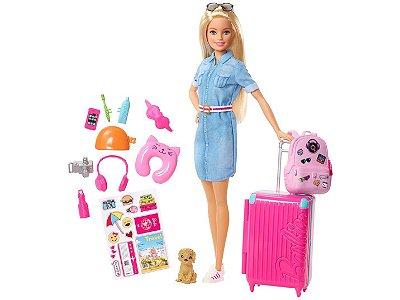 Barbie Dreamhouse Adventures Loira Mala De Viagem Viajante - com Acessórios