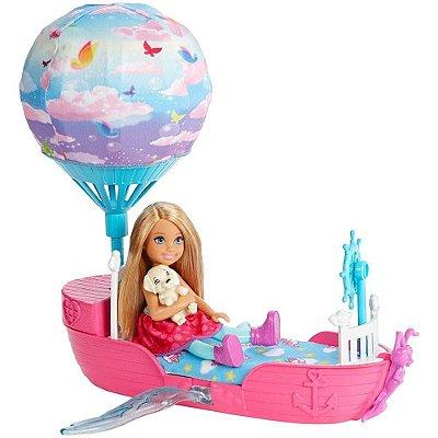 Barbie Dreamtopia Chelsea E O Barco Balão Dos Sonhos Magicos