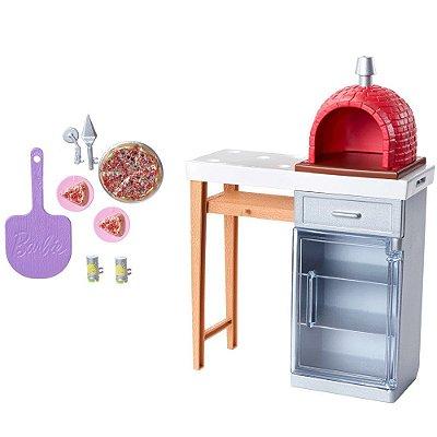 Barbie Móveis E Acessórios Temáticos - Forno De Pizza