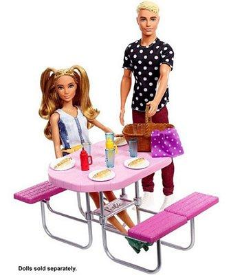 Barbie Móveis E Acessórios Temáticos - Piquenique C Lanche