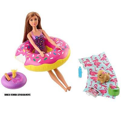 Barbie Móveis E Acessórios Temáticos - Dia Na Piscina Com Pet