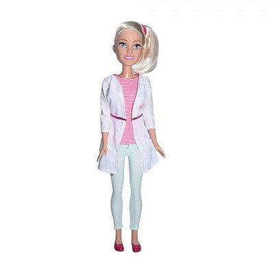 Boneca Barbie Veterinária Grande Com Acessórios 65 Cm