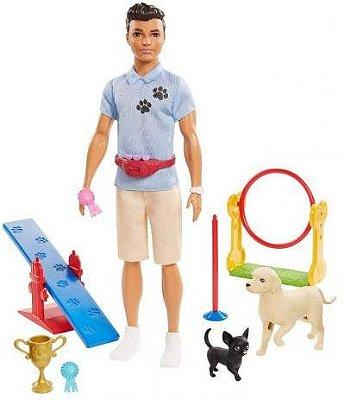Barbie - Ken Profissões - Veterinário Ou Treinador + Pets