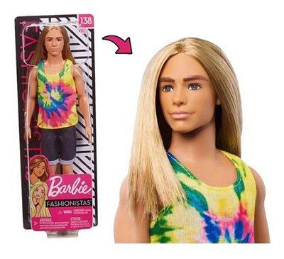 Barbie Ken Fashionista 138 Surfista Cabelo Longo Loiro