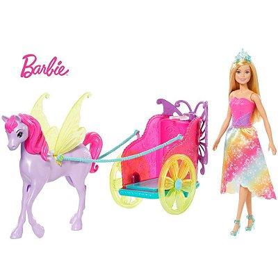 Boneca Barbie Dreamtopia Princesa Com Carruagem Encantada