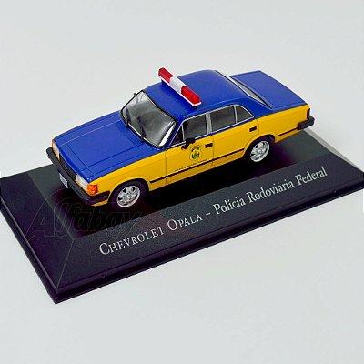 Carro Miniatura Chevrolet Opala Polícia Rodoviária Federal Carros Inesquecíveis do Brasil