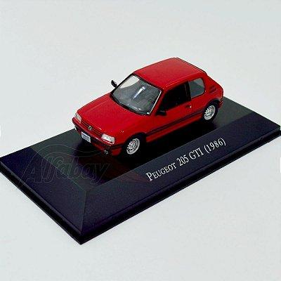 Carro Miniatura Peogeot 205 GTI 1986 Carros Inesquecíveis do Brasil