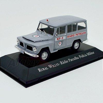 Carro Miniatura Rural Willys Rádio Patrulha Polícia Militar Carros Inesquecíveis do Brasil