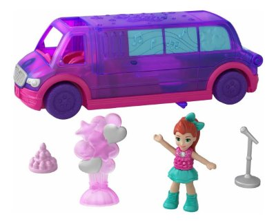 Polly Pocket Pollyville A Limousine De Festa De Luxo Da Polly Pocket