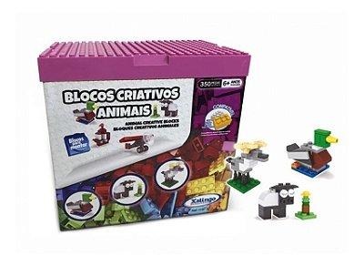 Blocos Criativos Animais Xalingo 11976 Jogo Com 350 Pcs