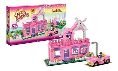 Blocos Para Montar Casa De Férias Das Princesas 5 Em 1 431pc