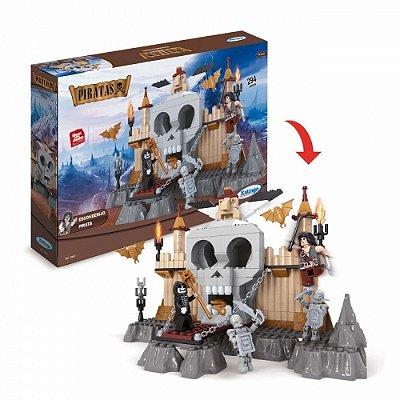Blocos De Montar Castelo Piratas - Esconderijo Dos Piratas