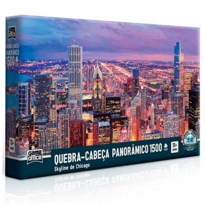 Quebra Cabeça Panorâmico 1.500 Peças Skyline de Chicago