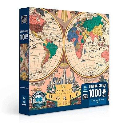 Quebra Cabeça 1.000 Peças Novo Mapa do Mundo 1928