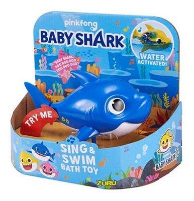 Baby Shark Robô Alive Nada De Verdade na Água Azul