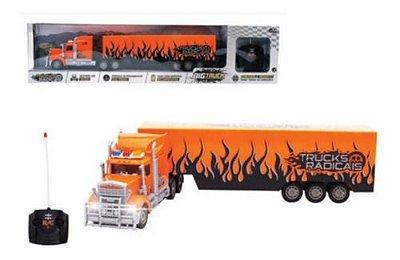 Caminhão de Controle Remoto Trucks Radicais Laranja
