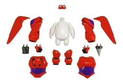 Baymax Com Armadura Baymax 2.0 Big Hero 6 Marvel Disney