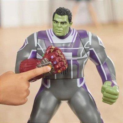 Boneco Hulk Com Som Figura Deluxe Power Punch