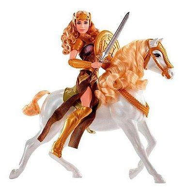 Boneca Queen Hippolyta Com Cavalo - Mulher Maravilha