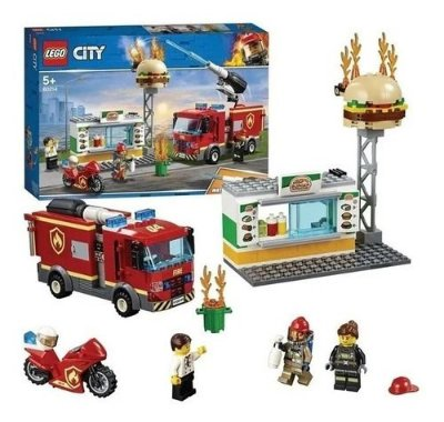 Lego City Combate Ao Fogo No Bar De Hambúrguer 327 Pcs