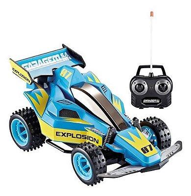 Carro RC Garagem Sa 7 Funções Explosion Azul