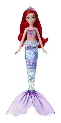 Princesas Boneca Disney Ariel Luz E Brilho