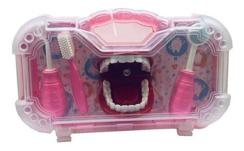 Dr Dentinho Com Maleta De Dentista Infantil Rosa