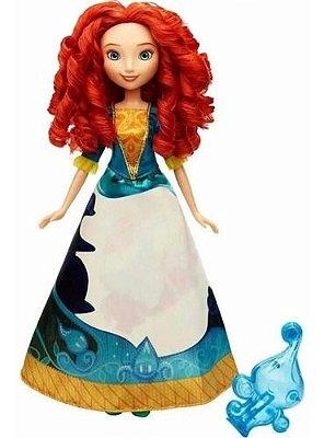 Boneca Disney Princess Merida Vestido Magico