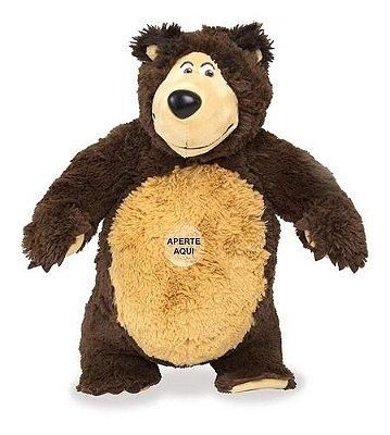 Pelúcia Urso Com Som Masha E O Urso Original Estrela 40cm