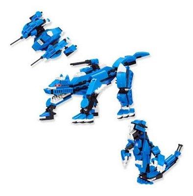 Blocos De Montar Dinossauro Dragão Lobo - 3 Em 1 215 Pcs