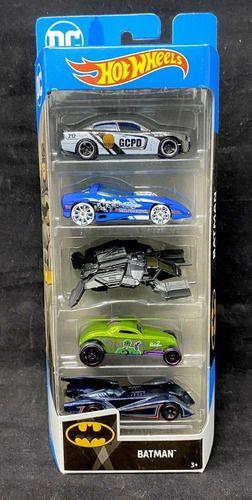 Pack De 5 Carrinhos Hot Wheels Batman Edição Especial