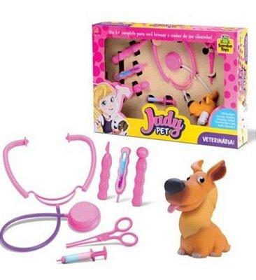 Kit Veterinária Infantil Completo Acessórios Judy Pet
