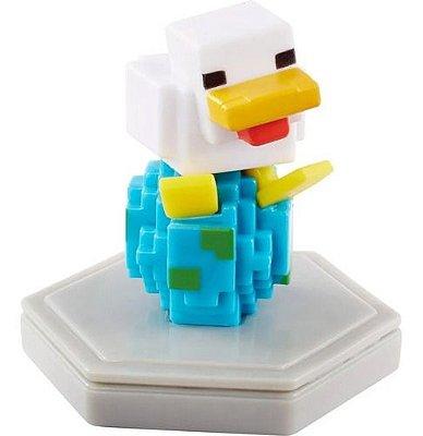 Mini Figura Boneco Jogo Minecraft Earth Chicken Galinha