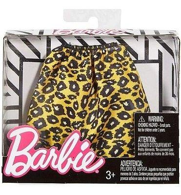 Roupa Da Barbie Fashion Saia Laranja De Onça