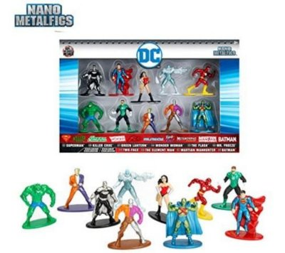 Box 10 Miniaturas Nano Metalfigs Dc Comics