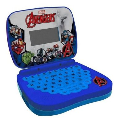 Laptop Infantil Marvel Vingadores Brinquedo Educativo